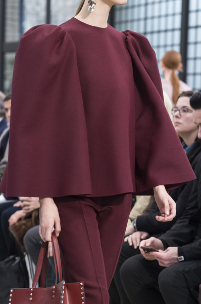 Valentino at Paris Fall 2018 (Details) [clothing,fashion,street fashion,red,outerwear,shoulder,cape,pink,maroon,haute couture,socialite,valentino,fashion,haute couture,runway,clothing,shoulder,pink,paris fashion week,fashion show,runway,haute couture,fashion show,fashion,socialite]