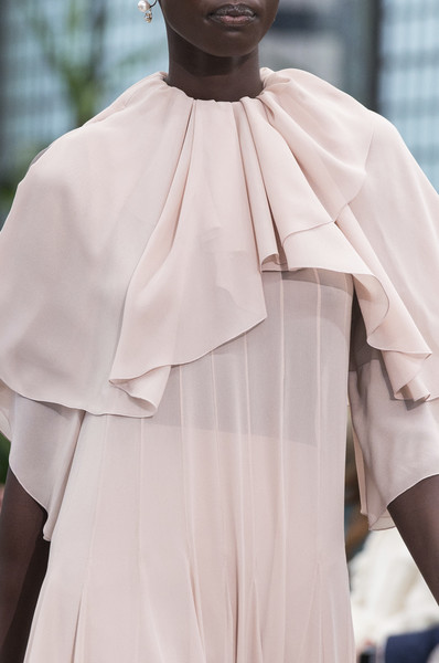 Valentino at Paris Fall 2018 (Details) [white,clothing,fashion,shoulder,outerwear,dress,joint,cape,sleeve,haute couture,valentino,haute couture,fashion,runway,peach,white,clothing,joint,sleeve,paris fashion week,haute couture,robe,runway,peach]