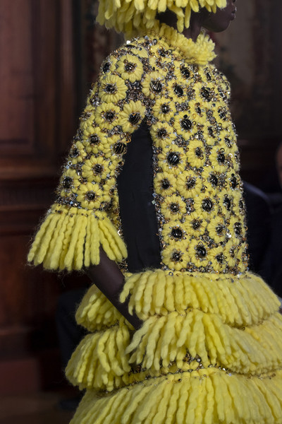 Valentino at Couture Fall 2019 (Details) [yellow,fashion,dress,costume design,textile,fashion design,haute couture,tradition,fashion accessory,art,shoe,valentino,couture fall,clothing,costume design,haute couture,craft,costume,fashion,nail,clothing,craft,costume design,shoe,nail,haute couture,bead,costume,booneville/baldwyn airport]