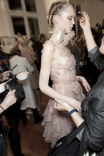 Valentino at Couture Spring 2011 (Backstage)
