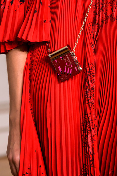 Valentino at Paris Spring 2017 (Details) [clothing,red,maroon,textile,magenta,dress,hand model,valentino,handmodel.,clothing,fashion,silk,red,maroon,textile,paris fashion week,fashion,pleat,handmodel.berlin,clothing,hand model,silk,sleeve,ruffle]