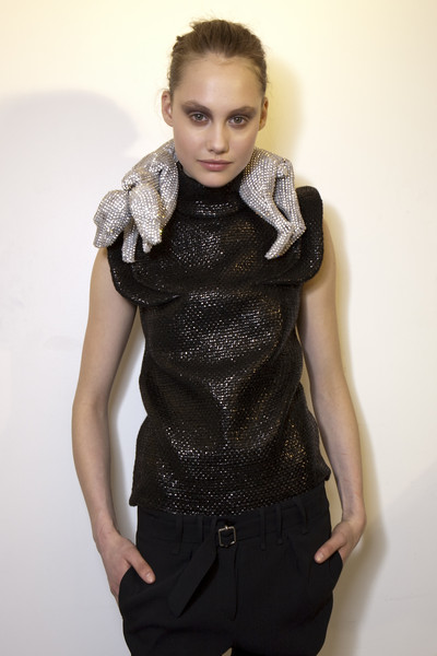 Véronique Leroy at Paris Fall 2009 (Backstage)
