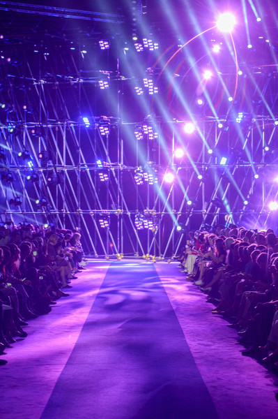 Versace at Milan Spring 2017 [photograph,image,purple,violet,blue,light,lavender,lighting,electric blue,stage,space,fashion,fashion week,wallpaper,runway,light,versace,milan fashion week,fashion show,milan fashion week,fashion week,runway,fashion show,fashion,wallpaper,image,harpers bazaar,photograph,photography]