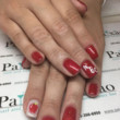 back to school nails red apple