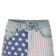 Red White and Blue Denim Shorts