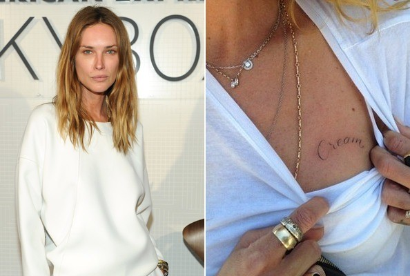 Erin Wasson S Mystery Mark The 50 Most Stylish Celebrity Tattoos Livingly