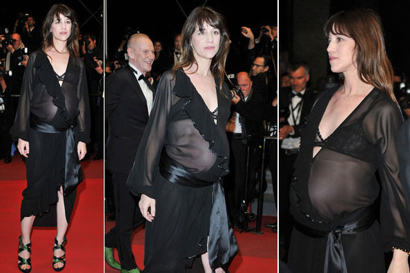 659fca82da5 Hot or Not  Charlotte Gainsbourg s Cannes Maternity Wear - Hot or ...