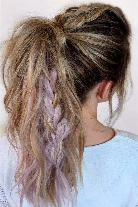 best style for hair chunky braid ponytail the coolest ponytail hairstyles 8108
