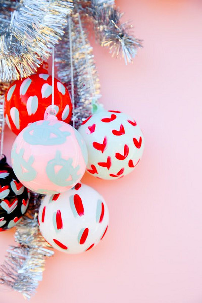 Painted Pattern Ornaments