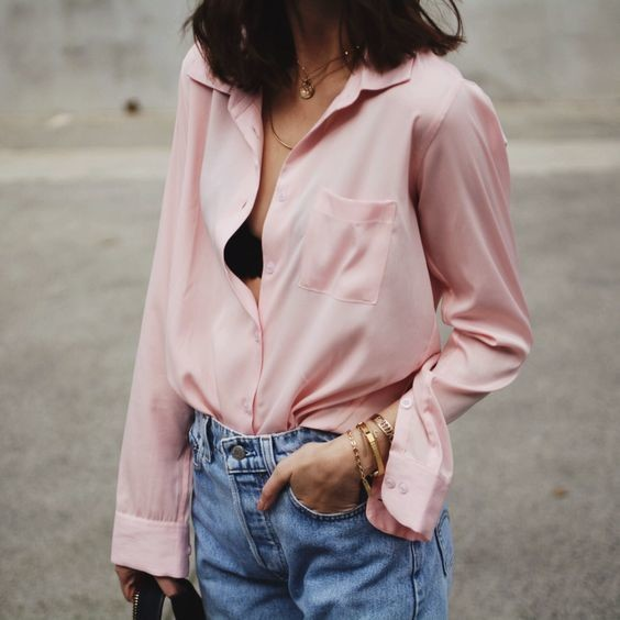 Blush Button-Down