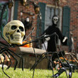 Decorate your front yard for Halloween