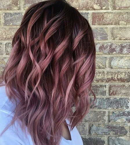 Fall Rose Melt  Fall Hair Color Ideas Straight From Pinterest  Livingly