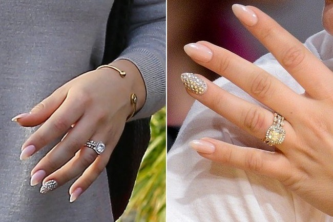 Check Out Kaley Cuoco S Gorgeous Wedding Bling Nails