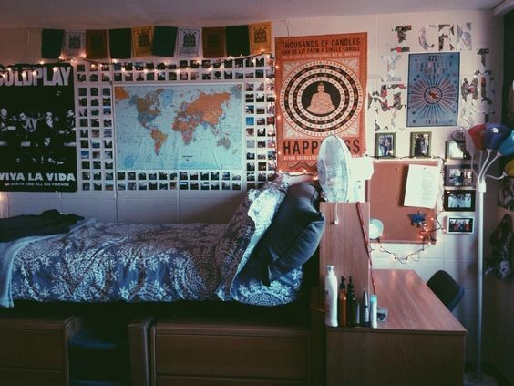 Well traveled diy ideas that 39 ll make your dorm room feel for Dorm room decor quiz