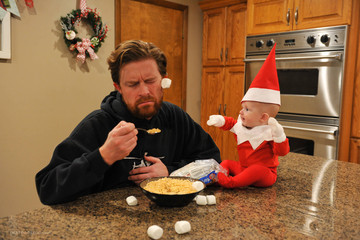 Dad Turns His 4-Month-Old Son Into the Elf on the Shelf, Wins Christmas