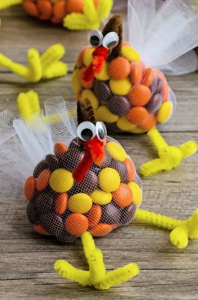 prep candy goody bags thanksgiving crafts for kids that are way