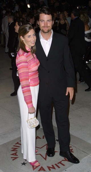 Chris O'Donnell and Caroline Fentress Then