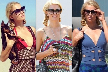 Paris Hilton Was Really Feeling These Pigtail Braids This Weekend - You?