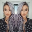 Witchy Lavender-Grey Waves