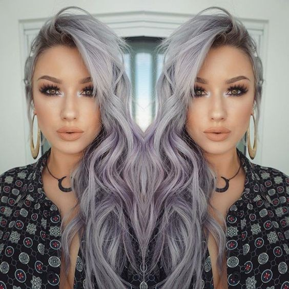 Witchy Lavender Grey Waves 21 Pinterest Looks That Will Convince