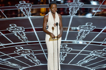 Lupita Nyong'o Stuns in Pearl-Beaded Gown