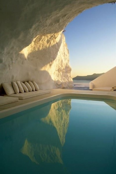 Swim in a picture-perfect cave in Greece