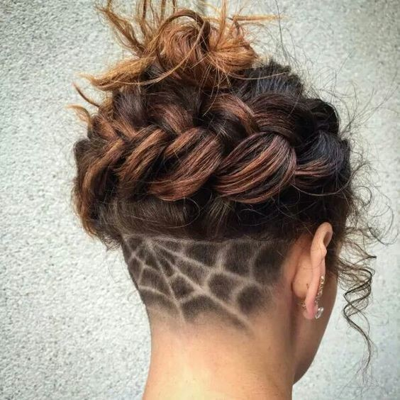 Spider Web - Undercut Hair Designs For The Most Bold And ...