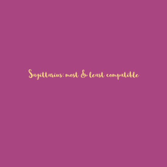 Sagittarius: Most & Least Compatible
