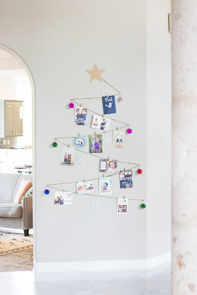 Turn A Bare Wall Into A Card Display