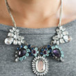 DIY Rhinestone Statement Necklace