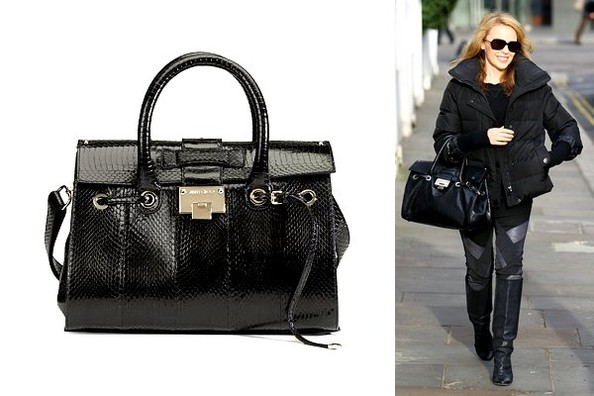 e7f409df7c59 Showing Skin  Kylie Minogue Carries Jimmy Choo s Snakeskin Satchel ...