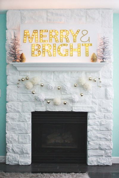 Light Up Your Mantel With A Marquee Sign