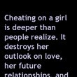 Cheating is Deeper Quote