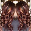 Brunette With Burnished Blonde Highlights