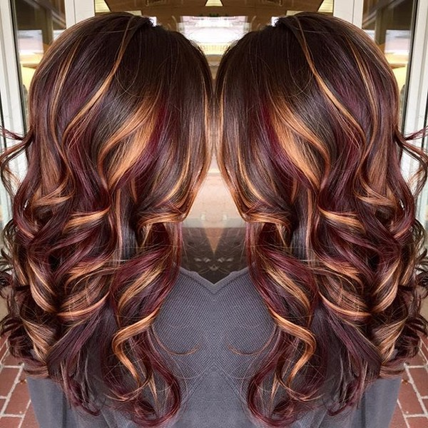 Brunette With Burnished Blonde Highlights 20 Gorgeous Brown Color