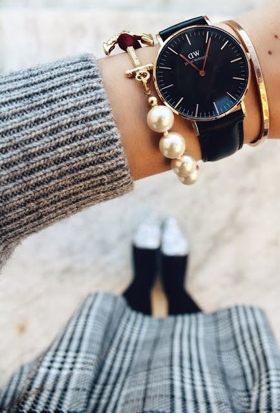 A Cool Watch and Pearls