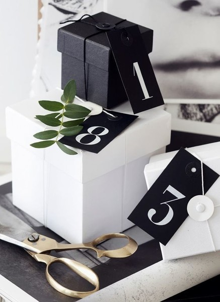 Black And White Present Boxes