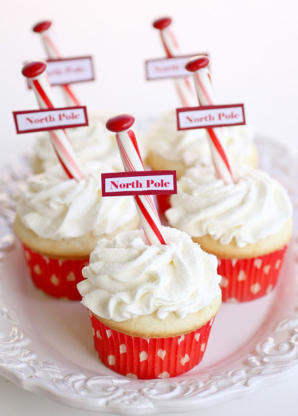 North Pole Cupcakes