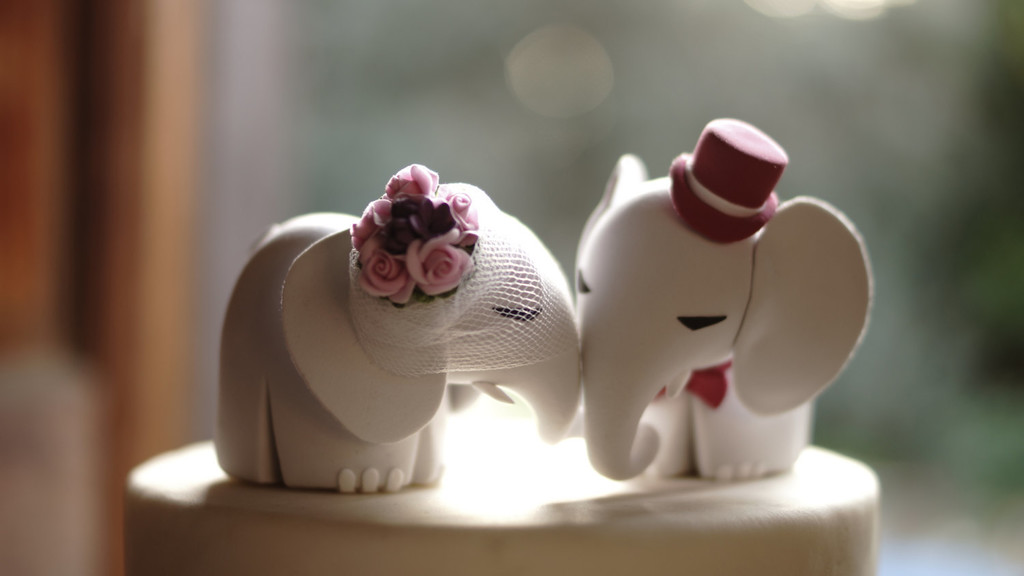 Darling Elephants Unique And Sweet Wedding Cake Toppers