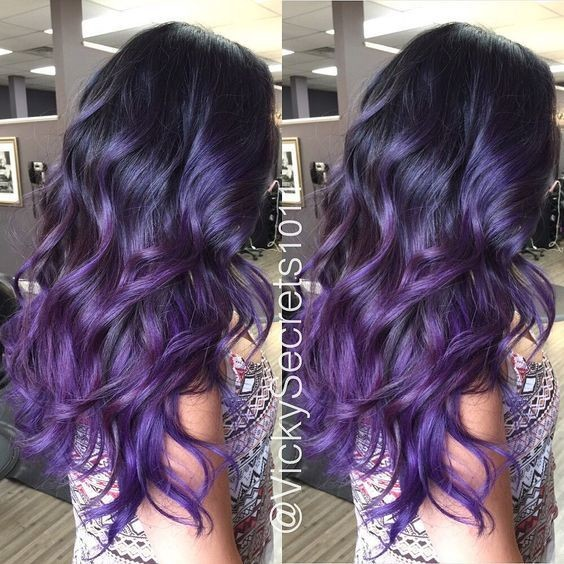 Royal Sombre Purple Hairstyles That Will Make You Want Mermaid
