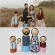 Get a wooden doll set modeled after your family