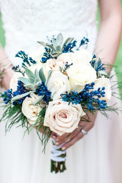 Blue & Blush Bouquet