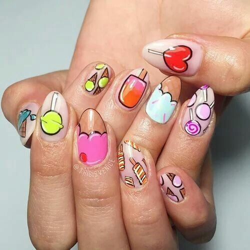 33 Cartoon Nail Art Designs Ideas: These Cartoon Nail Art Designs Are A Total Blast From The