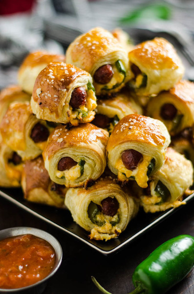 Jalapeno Popper Pigs In A Blanket