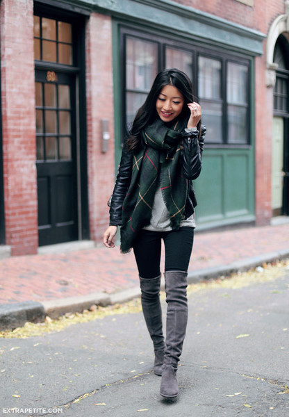 Green and a Leather Jacket