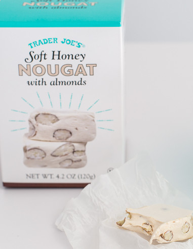 Soft Honey Nougat with Almonds