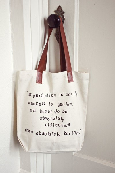 DIY Favorite Quote Bag