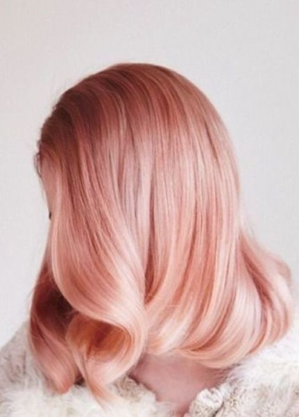 Solid Rose Gold Hair