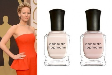 Jennifer Lawrence's Sheer Pink Nails at the Academy Awards