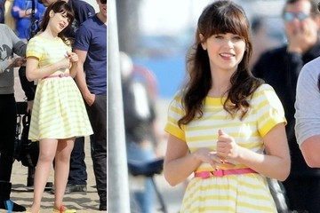 Zooey Deschanel's Dress Is a Welcome Slice of Summer